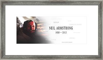Neil Armstrong Framed Print by Daniel Hagerman