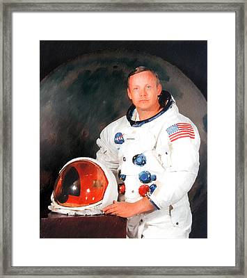 Neil Armstrong Framed Print by Ericamaxine Price