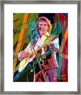 Neil Diamond Hot August Night Framed Print by David Lloyd Glover