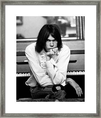 Neil Young 1970 Framed Print by Chris Walter
