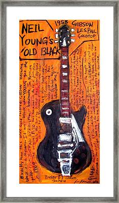 Neil Young's Old Black Framed Print by Karl Haglund