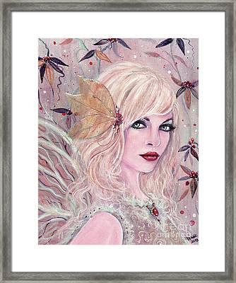 Neira Winter Fairy Framed Print by Renee Lavoie