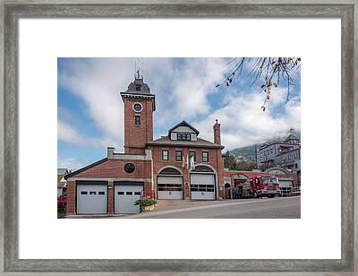 Roxanne's Firestation Framed Print by Joy McAdams