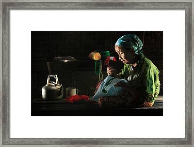 Nenek Framed Print by Andre Arment