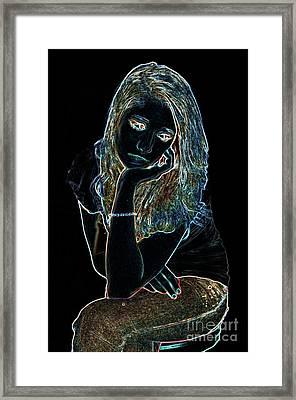 Neon Dejection Framed Print by Betty LaRue