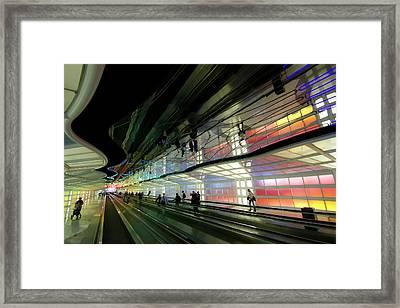 Neon Hall 2 Framed Print by Sven Brogren