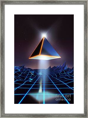 Neon Road  Framed Print by Pixel Chimp