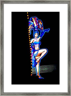 Neon Showgirl Framed Print by Az Jackson