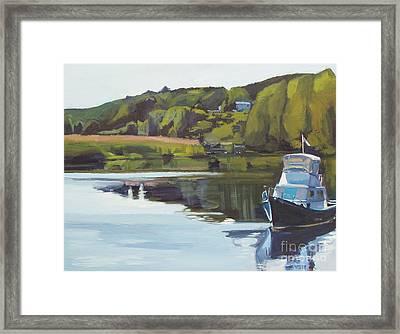 Neponset River Morning Framed Print by Deb Putnam