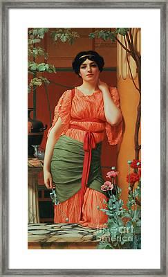 Nerissa Framed Print by John William Godward