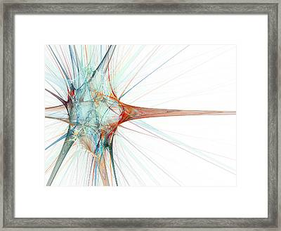 Nerve Cell, Abstract Artwork Framed Print by Laguna Design
