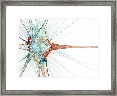 Nerve Cell, Abstract Artwork Framed Print by Laguna Design