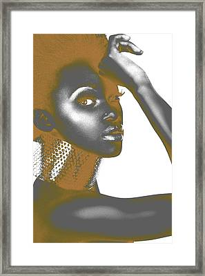 Nesha Framed Print by Naxart Studio