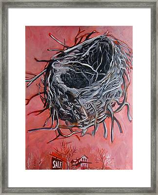 Nest Above House Framed Print by Tilly Strauss