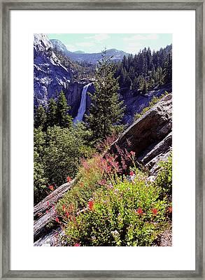 Nevada Falls Yosemite National Park Framed Print by Alan Lenk