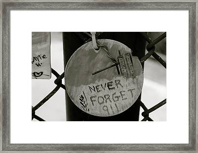 Never Forget Framed Print by Jerry Patterson