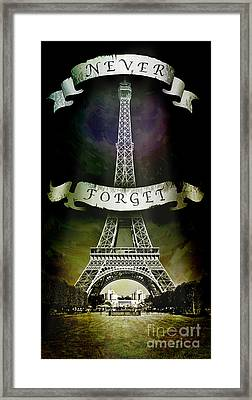 Never Forget Framed Print by Michael  Volpicelli