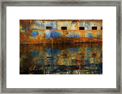 New Bedford Waterfront No. 6 Framed Print by David Gordon