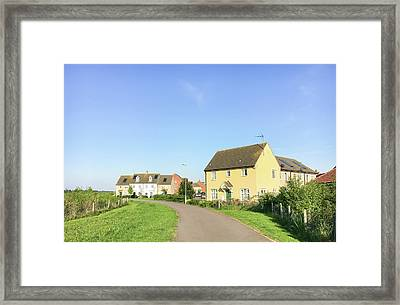 New Build Homes Framed Print by Tom Gowanlock