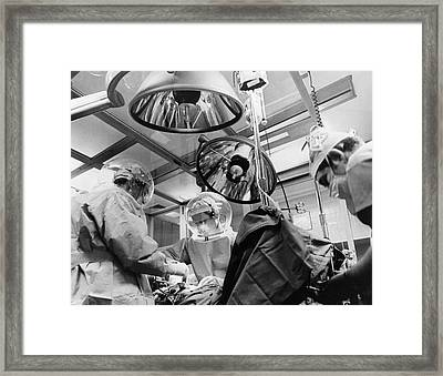 New Clean Room Surgery Framed Print by Underwood Archives