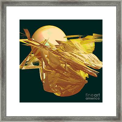 New Creation From Chaos In Gold Framed Print by Linda Phelps