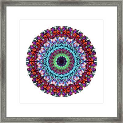 New Dawn Mandala Art - Sharon Cummings Framed Print by Sharon Cummings