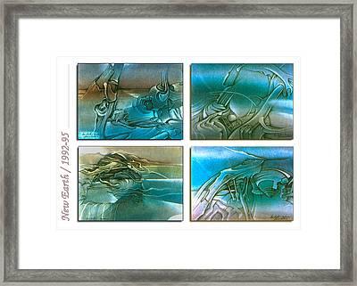 New Earth 1992-95 Framed Print by Glenn Bautista