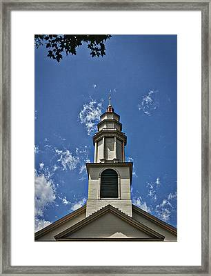 New England Church Steeple Framed Print by Stuart Litoff