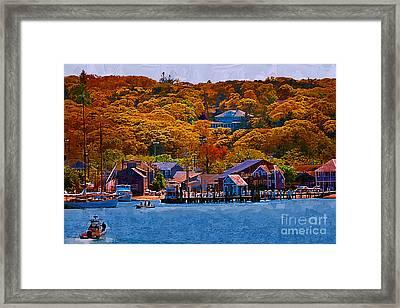 New England Fall Coastline Framed Print by Kirt Tisdale