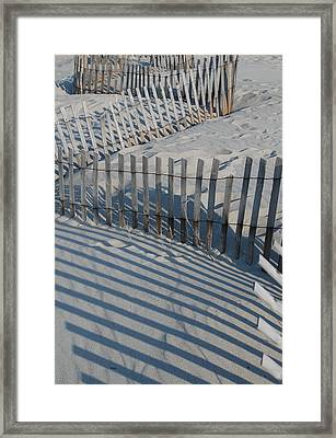 New England Fence Framed Print by Gene Sizemore