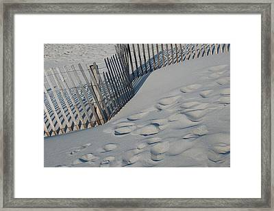 New England Footprints Framed Print by Gene Sizemore