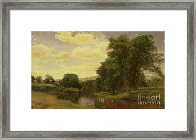 New England Landscape Framed Print by Aaron Draper Shattuck