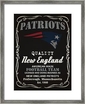 New England Patriots Whiskey Framed Print by Joe Hamilton