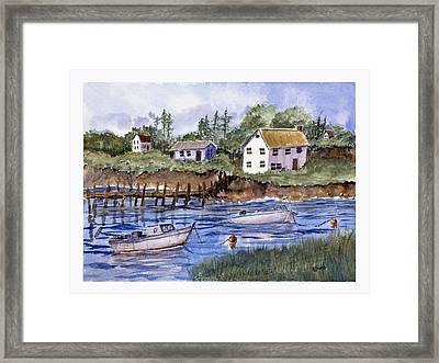 New England Shore - Marine Art Framed Print by Barry Jones