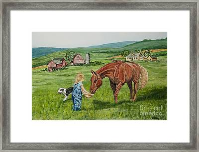 New Friends Framed Print by Charlotte Blanchard
