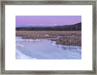 New Hampshire Presidential Range - Pondicherry Wildlife Refuge Framed Print by Erin Paul Donovan