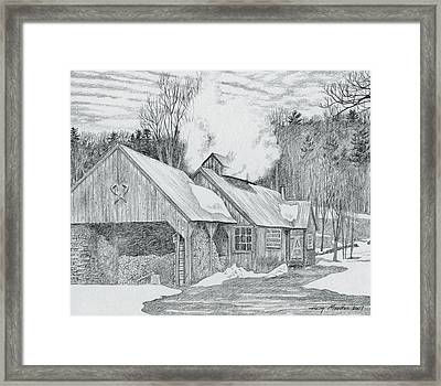 New Hampshire Sugarhouse Framed Print by Harry Moulton