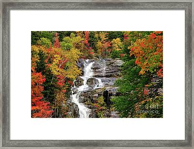 New Hampshire Waterfall Framed Print by Betty LaRue
