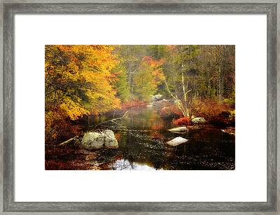 New Hampshire Wilderness-autumn Scenic Framed Print by Thomas Schoeller