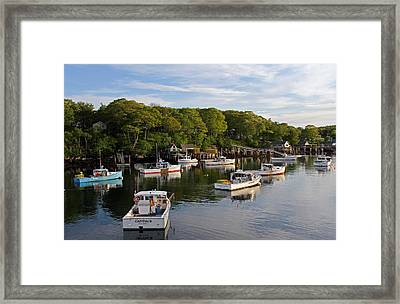 New Harbor Framed Print by Juergen Roth