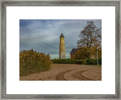 New Haven Light Framed Print by Capt Gerry Hare