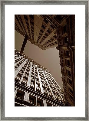 New Heights - Wrigley Building - Chicago Framed Print by Dmitriy Margolin