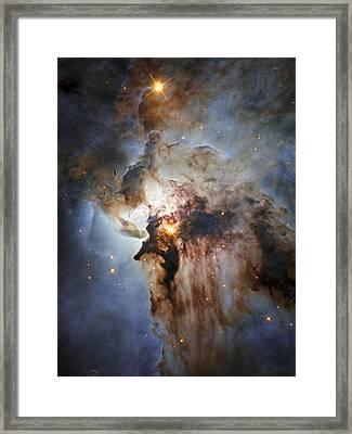 New Hubble View Of The Lagoon Nebula Framed Print by Adam Romanowicz