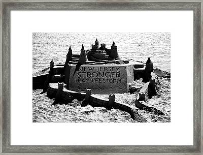 New Jersey Stronger Than Storm Framed Print by John Rizzuto
