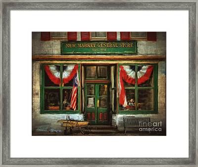 New Market General Store Framed Print by Lois Bryan