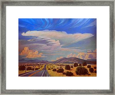New Mexico Cloud Patterns Framed Print by Art James West