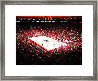 New Mexico Lobos University Arena Framed Print by Replay Photos
