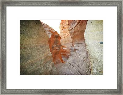 New Mexico Tent Rocks Canyon Mountain Landscape Framed Print by Andrea Hazel Ihlefeld