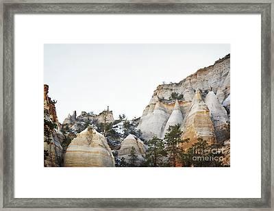 New Mexico Tent Rocks Desert Mountain Landscape Framed Print by Andrea Hazel Ihlefeld