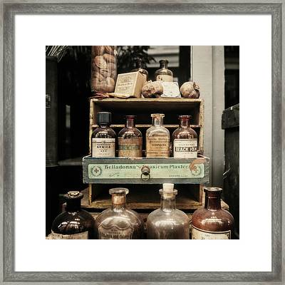 New Orleans Apothecary Framed Print by Scott Pellegrin